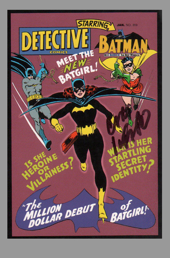 carmine-infantino-detective-comics-art-post-card-batman-first-batgirl-1