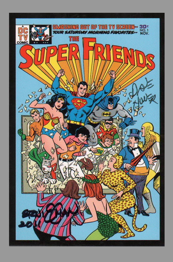 ernie-chan-super-friends-jla-superman-batman-signed-art-post-card