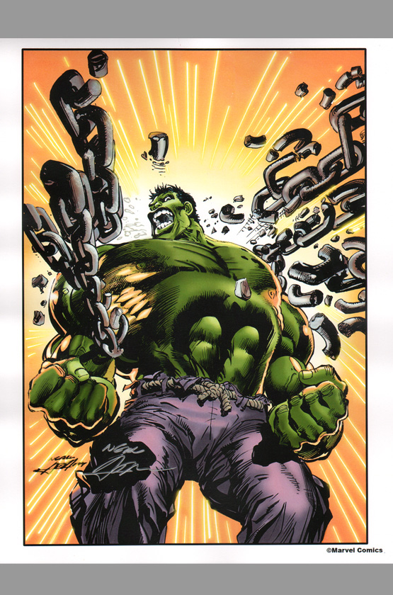 neal-adams-signed-autographed-comic-art-print-incredible-hulk-1