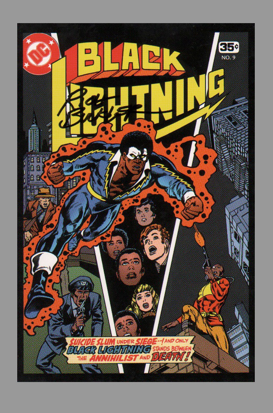 rich-buckler-signed-autographed-black-lightning-art-post-card