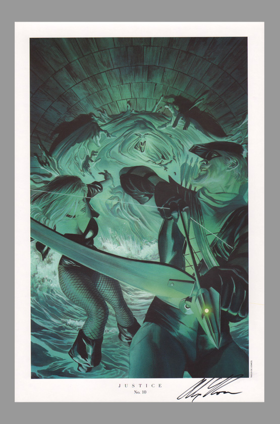 alex-ross-autograph-justice-league-jla-art-print-green-arrow-black-canary-9