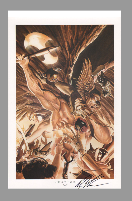 alex-ross-signed-justice-jla-art-print-hawkman-hawk-woman-6