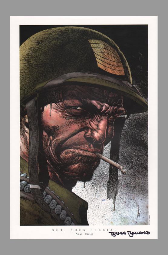 brian-bolland-signed-autographed-sgt-rock-comic-art-print-2