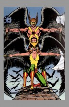 george-perez-justice-league-of-america-jla-art-post-card-signed-autograph-hawkman-hawk-man-hawk-girl-hawkgirl
