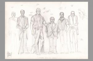 adam-kubert-original-art-sketch-prelim-doc-savage-signed-signature-autograph-3