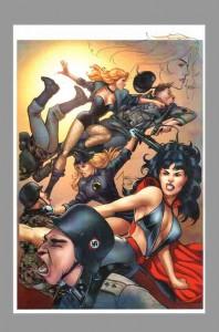 billy-tucci-original-comic-art-sketch-birds-of-prey-black-canary-phantom-lady-lady-blackhawk-1