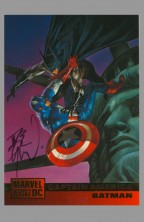 dave-dorman-signed-signature-autograph-art-card-captain-america-batman-dc-vs-marvel-trading-card