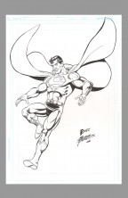george-perez-original-comic-art-sketch-superman-man-of-steel