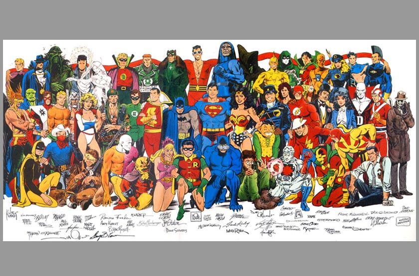 George Perez Wonder Woman Poster DC Universe Wonder Woman