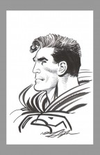 neal-adams-original-art-sketch-superman-man-of-steel-signed-autograph-drawing-bust