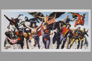 alex-ross-signed-autograph-limited-edition-litho-print-warner-brothers-studio-store-wb-exclusive-jsa-superman-batman-wonder-woman-art-print