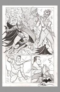 billy-tucci-original-comic-art-page-batman-superman-joker-catwoman-1