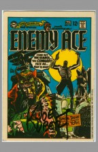 1969-1970-dc-comics-sticker-test-market-trading-card-art-signed-autograph-signature-enemy-ace-joe-kubert