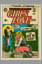 1969-1970-dc-comics-sticker-test-market-trading-card-art-signed-autograph-signature-nick-cardy-girls-love-stories