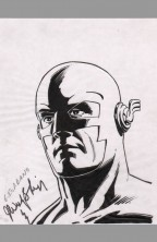 dick-giordano-original-art-sketch-merchandising-the-flash-signed-autograph-signature-john-wesley-shipp