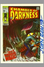 john-romita-sr-signed-marvel-famous-first-1st-cover-art-card-chamber-of-darkness-horror-comic-autograph-signature-card-1