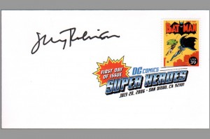 2006-usps-super-heroes-comic-art-stamp-signed-autograph-dc-fdi-first-day-issue-sdcc-jerry-robinson-batman-robin-issue-1
