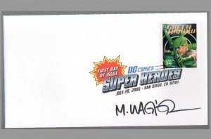 2006-usps-super-heroes-comic-art-stamp-signed-autograph-dc-fdi-first-day-issue-sdcc-matt-wagner-green-arrow