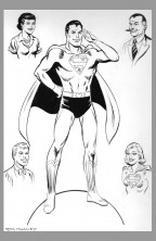 jim-mooney-original-superman-comic-art-lois-lane-jimmy-olsen-perry-white-supergirl-splash