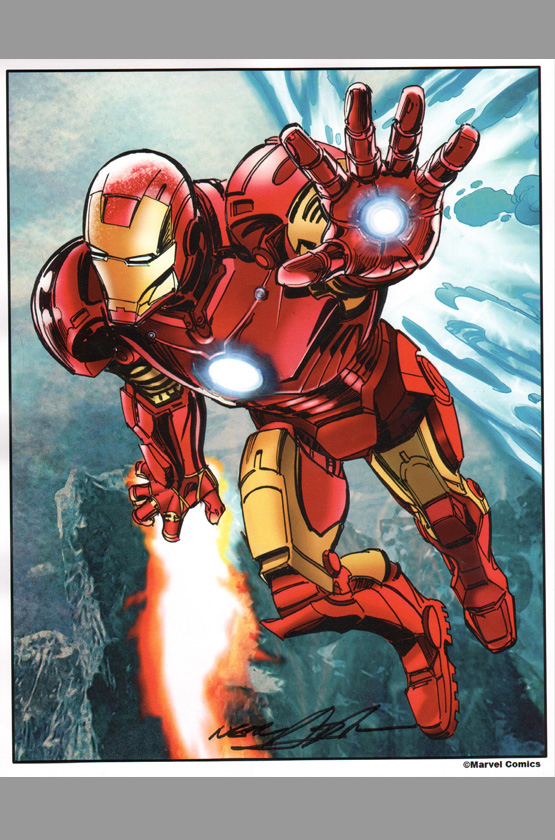 Iron Man Comic Art Comic Art Print Iron Man