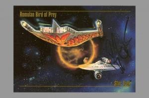 1993-star-trek-master-series-masterseries-masterpieces-signed-autograph-signature-art-card-bob-eggleton-romulan-war-bird-balance-of-terror-uss-enterprise-tos-original-series-1