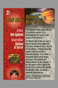 1993-star-trek-master-series-masterseries-masterpieces-signed-autograph-signature-art-card-bob-eggleton-romulan-war-bird-balance-of-terror-uss-enterprise-tos-original-series-2