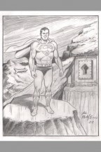 al-plastino-original-superman-man-of-steel-golden-age-original-comic-art-sketch-fortress-of-solitude-1
