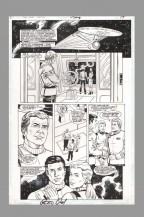 star-trek-original-comic-art-page-rod-whigham-james-t-kirk-enterprise-dc-comics-1-peter-david-signed-autograph-signature