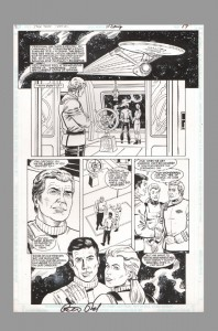 star-trek-original-comic-art-page-rod-whigham-james-t-kirk-enterprise-dc-comics-1-peter-david-signed-autograph-signature