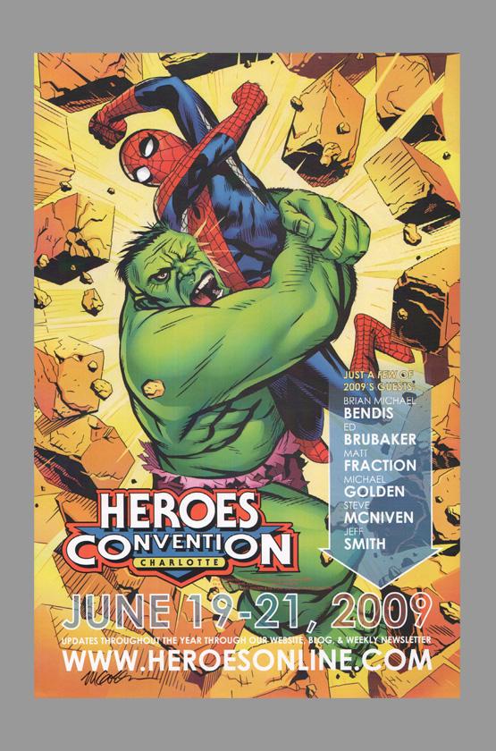 Michael Golden Signed Spider Man Vs The Hulk Poster