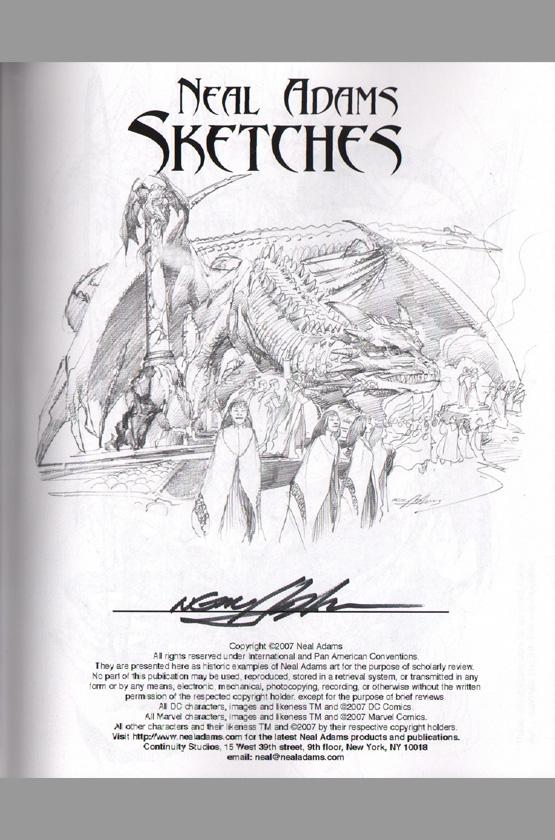 Tarzan 2 Characters Neal Adams Signed Sket...