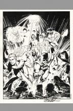 neal-adams-signed-signature-autograph-comic-art-print-jla-justice-league-batman-green-lantern-flash-atom-aquaman-1