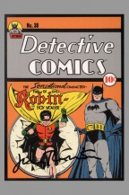 75th-anniversary-dc-comics-art-post-card-postcard-signed-signature-autograph-jerry-robinson-detective-comics-38-first-appearance-robin-batman-1