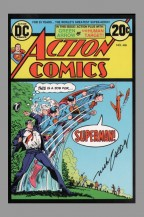 action-comics-superman-signed-signature-autograph-75th-anniversary-of-dc-comics-art-post-card-postcard-art-nick-cardy
