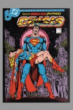 crisis-on-infinite-earths-signed-signature-autograph-75th-anniversary-of-dc-comics-art-post-card-postcard-art-george-perez-superman-supergirl-1