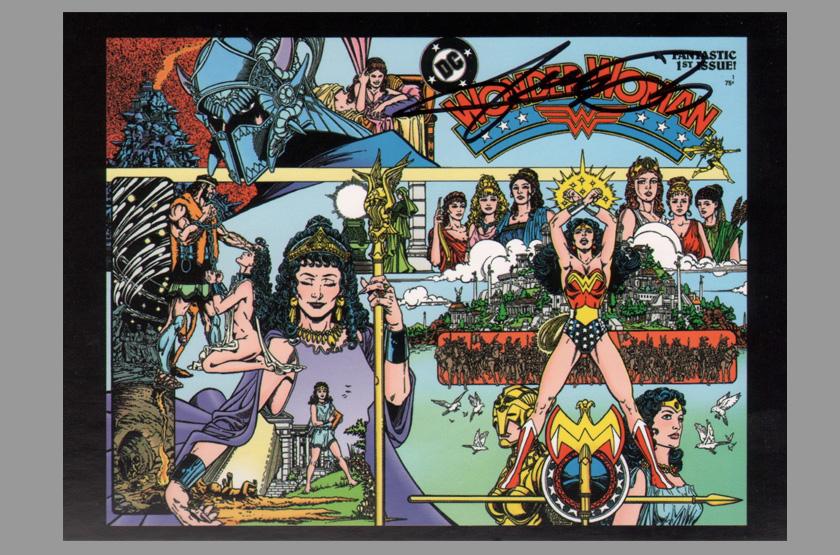 George Perez Wonder Woman Poster George Pérez Sign...