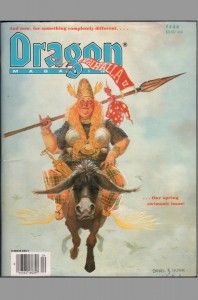 dragon-magazine-signed-signature-autograph-larry-elmore-fantasy-art-tsr-dungeons-and-dragons-rpg-144-snarfquest-snarf-1