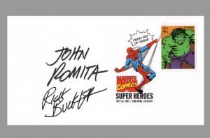 fdi-stamp-usps-marvel-super-heroes-signed-incredible-hulk-john-romita-sr-rich-buckler-1