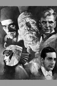 sanjulian-original-art-oil-painting-signed-universal-monsters-boris-karloff-mummy-1
