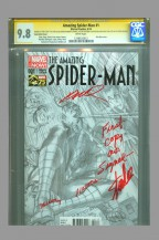 amazing-spiderman-spider-man-1-cgc-ss-signed-stan-lee-first-day-issue-of-release-alex-ross-sketch-variant-1-art-1
