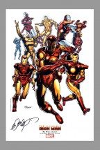 bob-layton-marvel-comics-art-print-signed-signature-autograph-iron-man-3