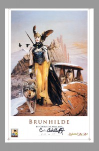 chris-achilleos-signed-autograph-signature-fine-art-print-numbered-fantasy-art-brunhilde-1