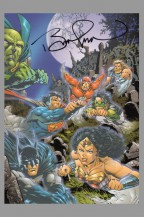 bernie-wrightson-jla-justice-league-signed-signature-autograph-art-post-card-batman-wonder-woman-superman-justice-league-aquaman-flash-martian-manhunter-1