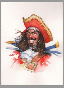 captain-morgan-original-art-don-maitz-watercolor-signed-spiced-rum-1