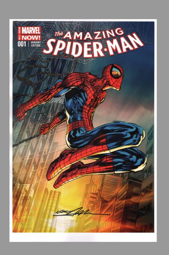 W.spider Neal Neal Adams Signed Print