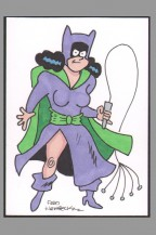 fred-hembeck-original-art-sketch-card-batman-catwoman-signed-signature-autograph-1