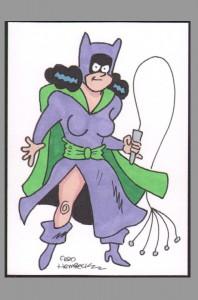 fred-hembeck-original-art-sketch-card-batman-catwoman-signed-signature-autograph-1