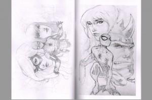 sajad-shah-signed-comic-art-sketch-book-wolverine-x-men-spiderman-spider-man-3