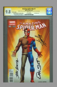 cgc-ss-fdi-first-day-issue-release-amazing-spiderman-spider-man-john-romita-sr-art-dan-slott-stan-lee-cobra-variant-1