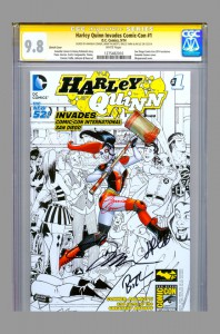 harley-quinn-cgc-ss-signed-amanda-conner-jimmy-palmiotti-bruce-timm-jim-lee-sdcc-san-diego-comic-con-comicon-invades-signed-signature-autograph-1